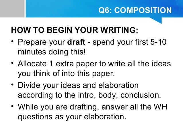 Tips for writing english paper 3