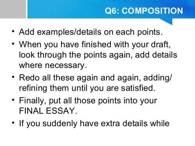 how to write a paper answering a question