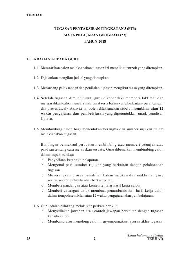 Pt3 Geografi 2018 Arahan Kepada Calon Amp Guru