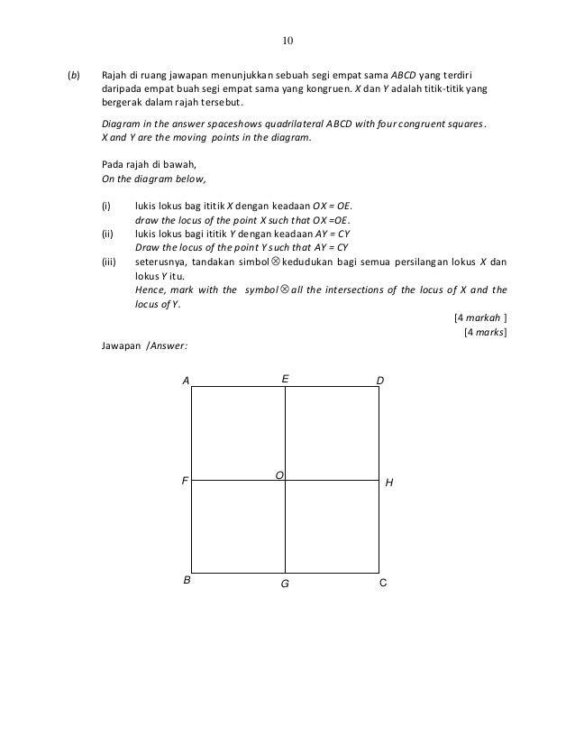 Contoh instrumenitem pentaksiran tingkatan 3 matematik 10 ccuart Choice Image
