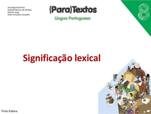Significação lexical Porto Editora