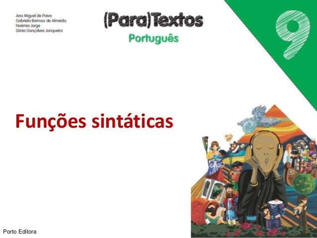 Porto Editora Funções sintáticas