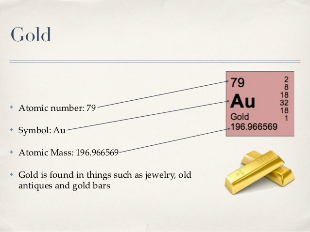 Periodic table gold urtaz