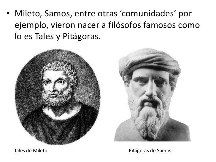 Resultado de imagen de Tales de MIleto Pitágoras de Samos