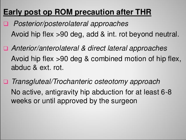 Physiotherapy Rehab After Total Hip Replacement