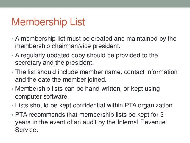 PTA Membership Planning Workshop