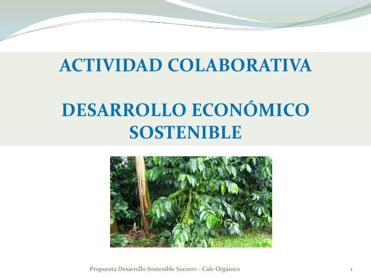 ACTIVIDAD COLABORATIVA  DESARROLLO ECONÓMICO       SOSTENIBLE       Propuesta Desarrollo Sostenible Socorro - Cafe Orgánic...