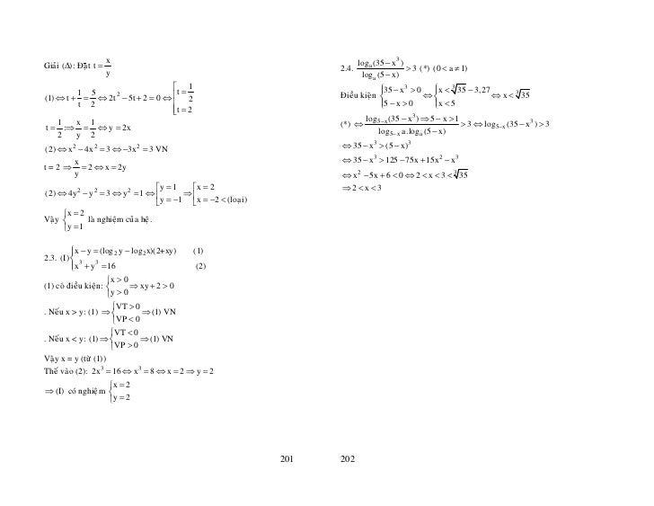 x                                                      loga (35 − x3 )Giaûi (∆): Ñaët t =                                 ...