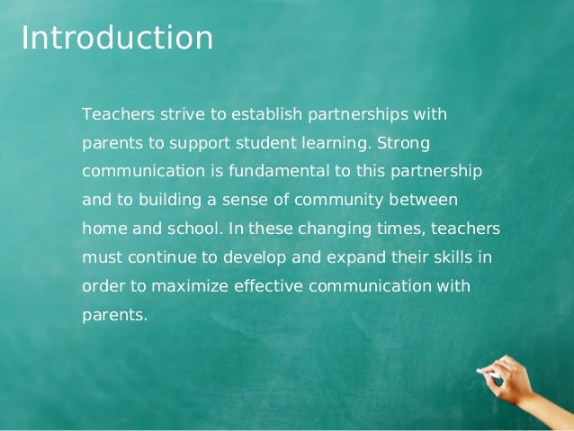 teacher parents partnership Encouraging parent partnerships special education teachers, and parents can play in promoting the success of students with disabilities in school.