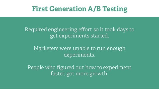 What's next for A/B Testing? We're Thinking Deeply About…