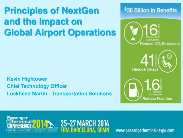 Principles of NextGen and the Impact on Global Airport Operations Kevin Hightower Chief Technology Officer Lockheed Martin...