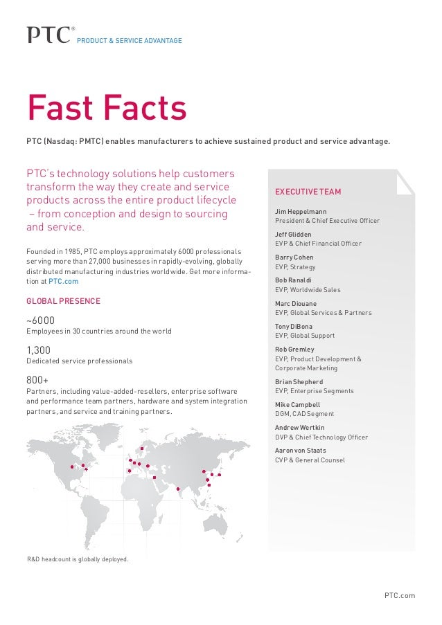 PTC.com PTC's technology solutions help customers transform the way they create and service products across the entire pro...