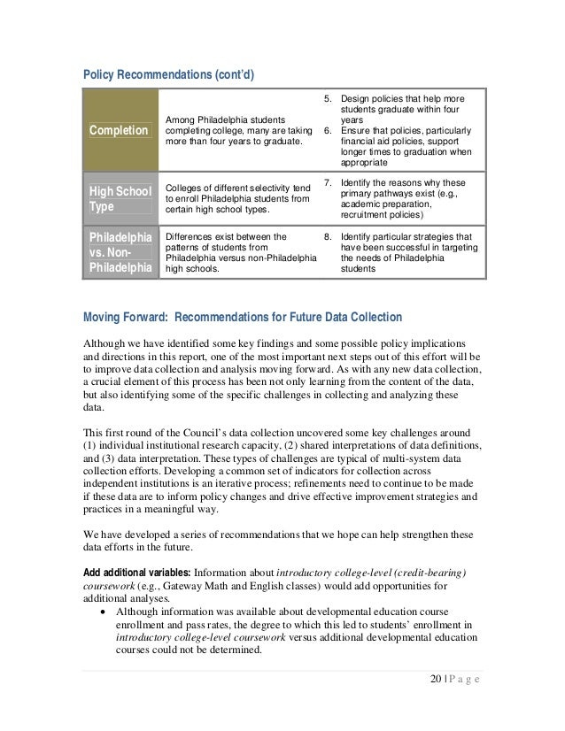 Policy Recommendations (cont'd)                                                            5. Design policies that help mo...