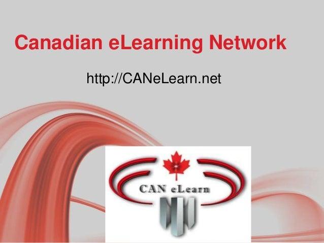 Canadian eLearning Network http://CANeLearn.net