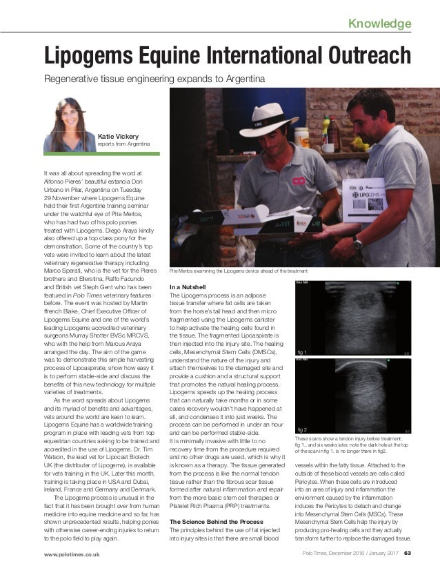 Knowledge www.polotimes.co.uk 63Polo Times, December 2016 / January 2017 It was all about spreading the word at Alfonso Pi...