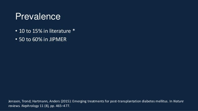 Post transplant Diabetes Mellitus