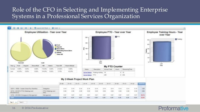 Role of the CFO in Selecting and Implementing Enterprise Solutions
