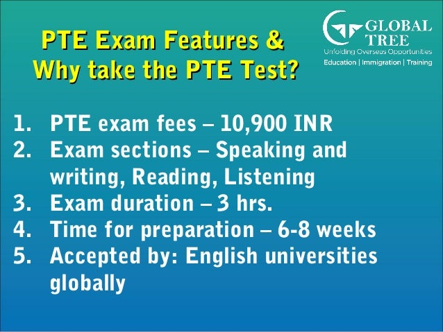 PTE Training | PTE Exam Features - Global Tree, India