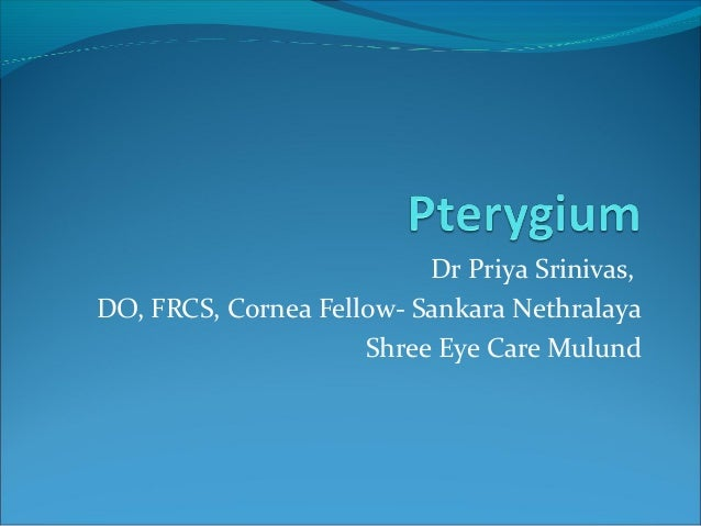 Dr Priya Srinivas, DO, FRCS, Cornea Fellow- Sankara Nethralaya Shree Eye Care Mulund