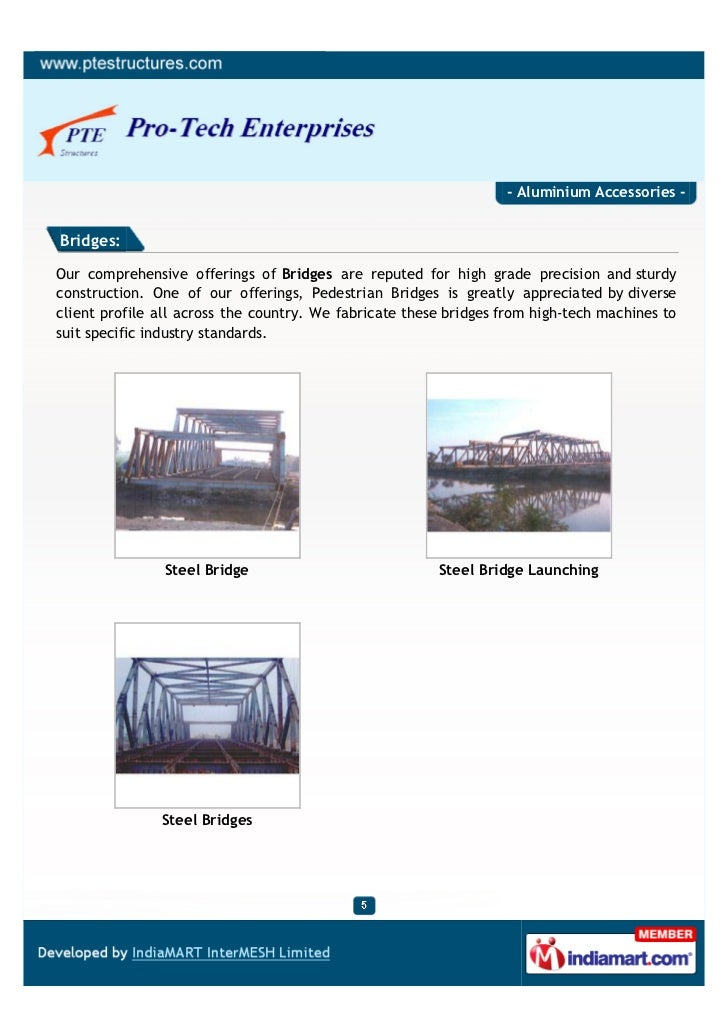 - Aluminium Accessories -Bridges:Our comprehensive offerings of Bridges are reputed for high grade precision and sturdycon...