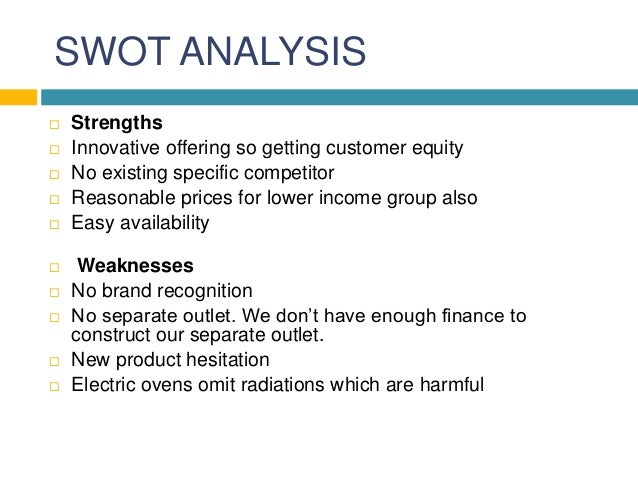 swot bakery This starbucks swot analysis reveals how the largest coffee chain in the world uses its competitive advantages to continue growing so successfully all over the world it identifies all the key strengths, weaknesses, opportunities and threats that affect the company the most.