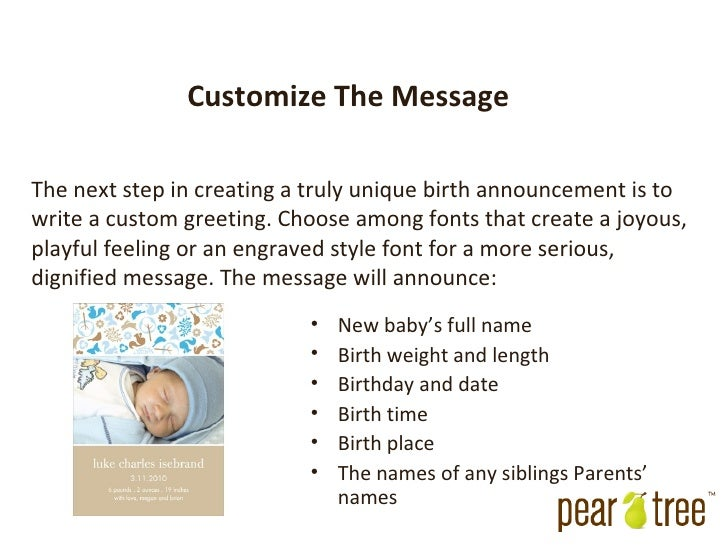 Photo Baby Announcements – New Born Baby Arrival Announcement Messages
