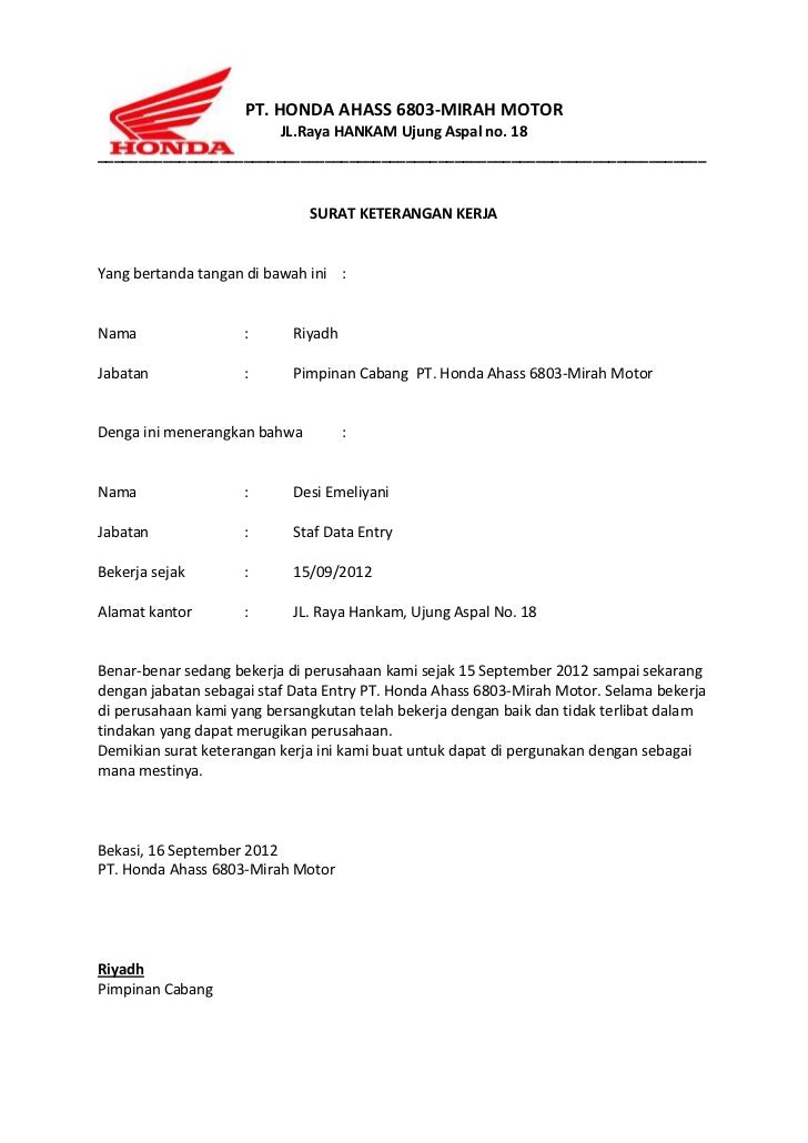 59 Contoh Surat Lamaran Kerja Pt Yamaha Music Manufacturing Asia