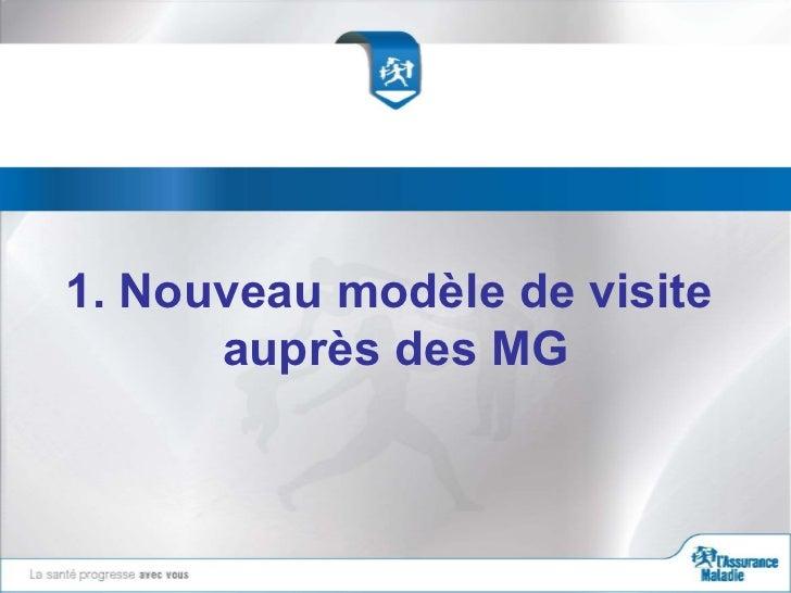 1. Nouveau modèle de visite      auprès des MG