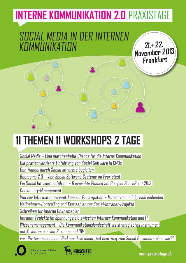 Social Media in der Internen Kommunikation 21.+22. November 2013 Frankfurt 11 THEMEN 11 WORKSHOPS 2 TAGE Social Media – Ei...