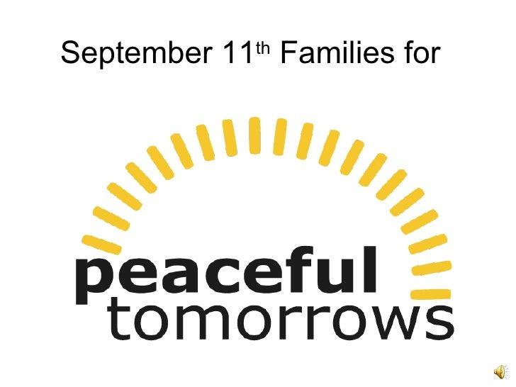 September 11 th  Families for