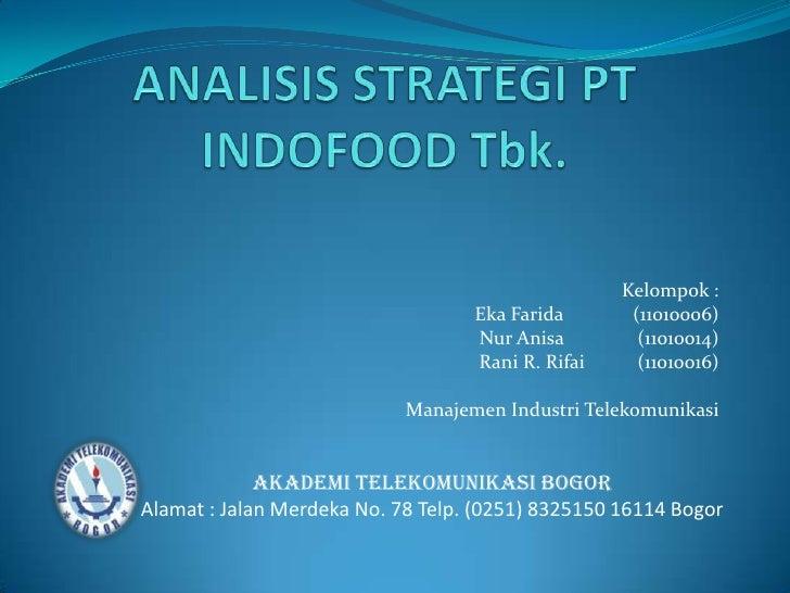 Pt indofood sukses makmur tbk analisis strategi pt indofood tbkbr kelompok br ccuart Image collections