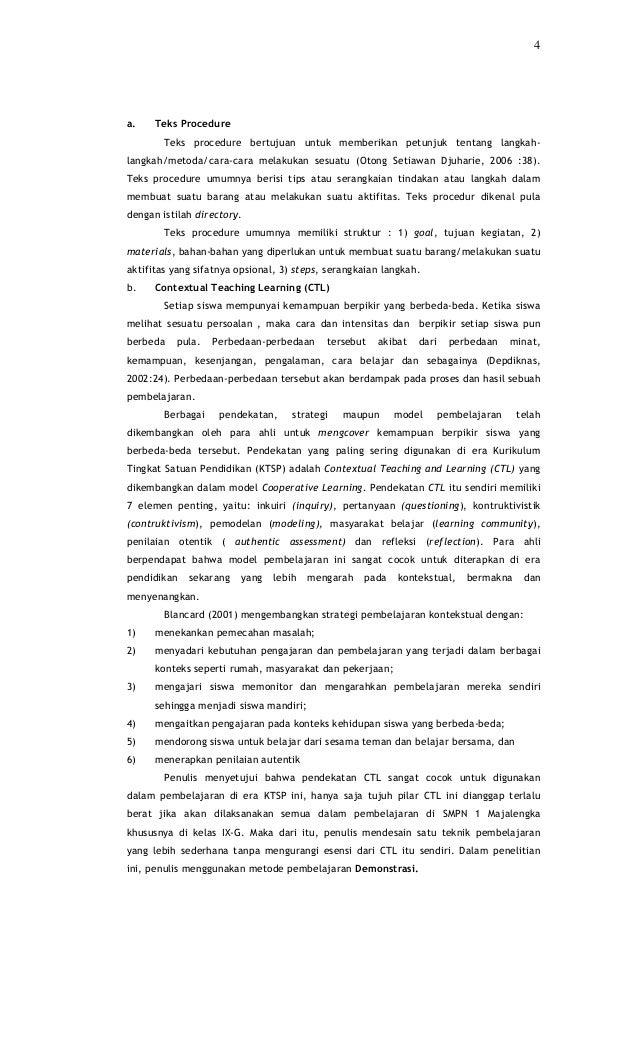 4a.    Teks Procedure        Teks procedure bertujuan untuk memberikan petunjuk tentang langkah-langkah/metoda/cara-cara m...