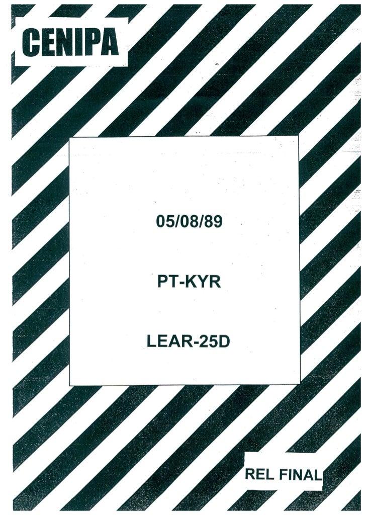 Acidente com a Aeronave PT-KYR em 05 de Agosto de 1989