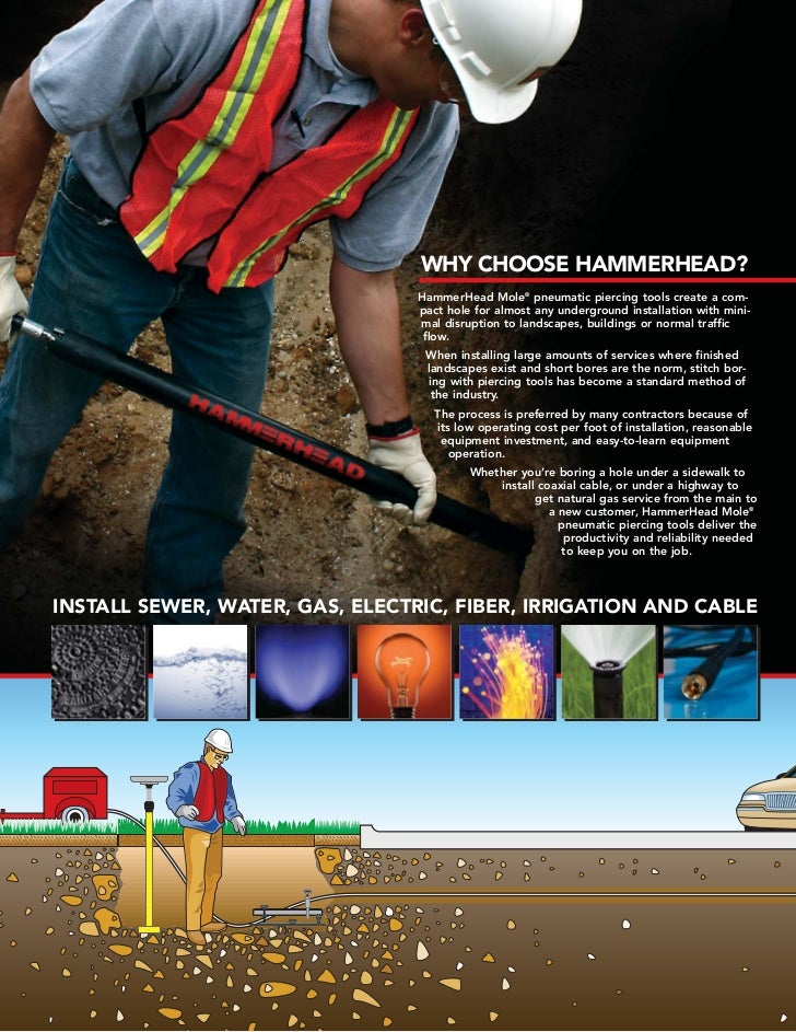 Hammerhead Mole Piercing Tools