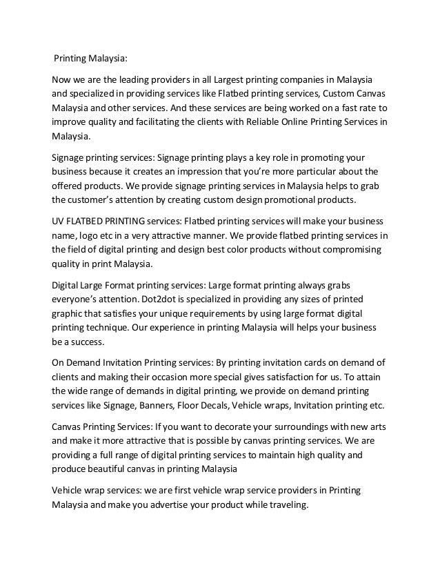 dot2dot printing malaysia digital large format printing