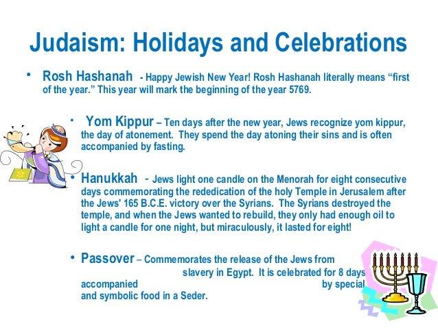 Jewish Holidays and Festivals
