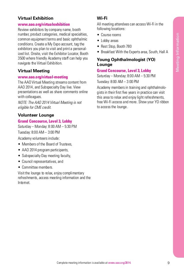 Aao 2014 Meeting Guide Online Final Web