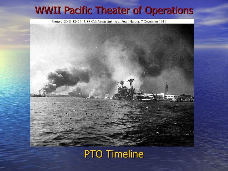 WWII Pacific Theater of Operations PTO Timeline