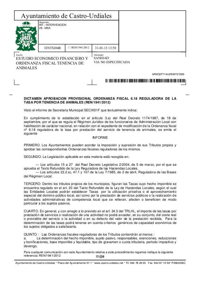 Ayuntamiento de Castro-Urdiales                    Negociado                    INT.- INTERVENCION                    29.-...