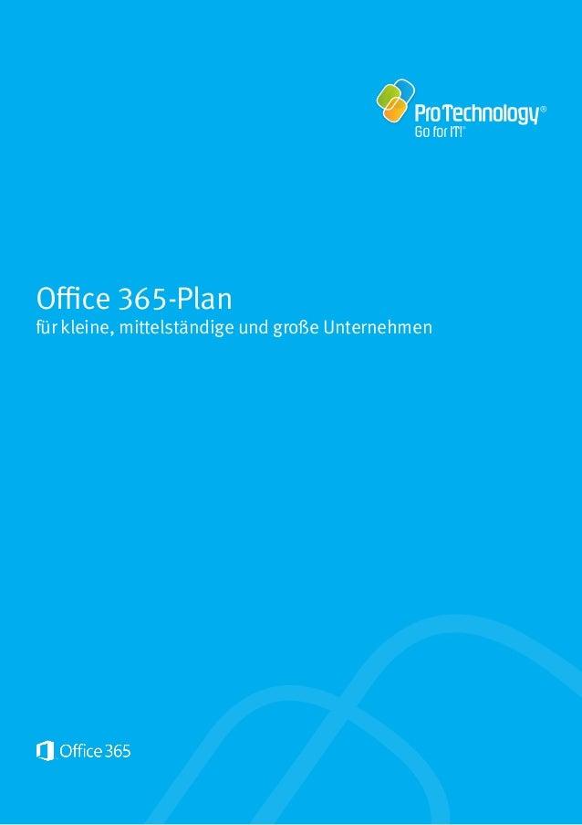 Office 365-Plan für kleine, mittelständige und große Unternehmen