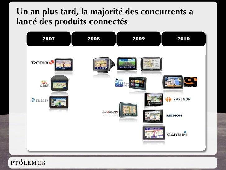 Un an plus tard, la majorité des concurrents a lancé des produits connectés       2007        2008        2009       2010