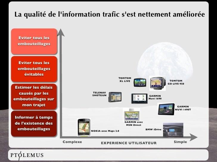 La qualité de l'information trafic s'est nettement améliorée     Eviter tous les   embouteillages      Eviter tous les   em...