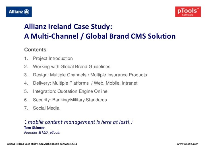 Ptools Allianz Case Study