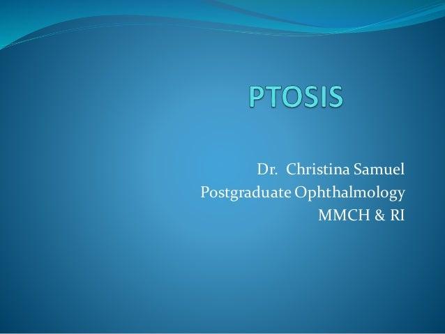 Dr. Christina Samuel Postgraduate Ophthalmology MMCH & RI