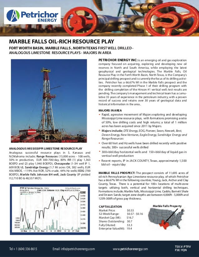 MARBLE FALLS OIL-RICH RESOURCE PLAY FORT WORTH BASIN, MARBLE FALLS , NORTH TEXAS FIRST WELL DRILLED ANALOGOUS LIMESTONE RE...