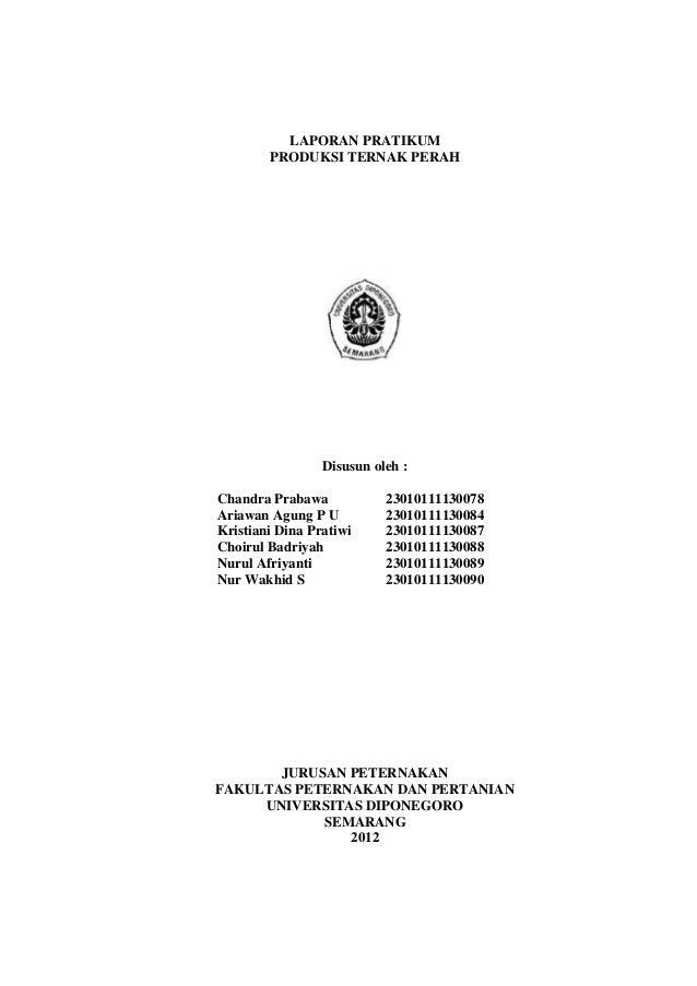 LAPORAN PRATIKUM        PRODUKSI TERNAK PERAH                 Disusun oleh :Chandra Prabawa            23010111130078Ariaw...