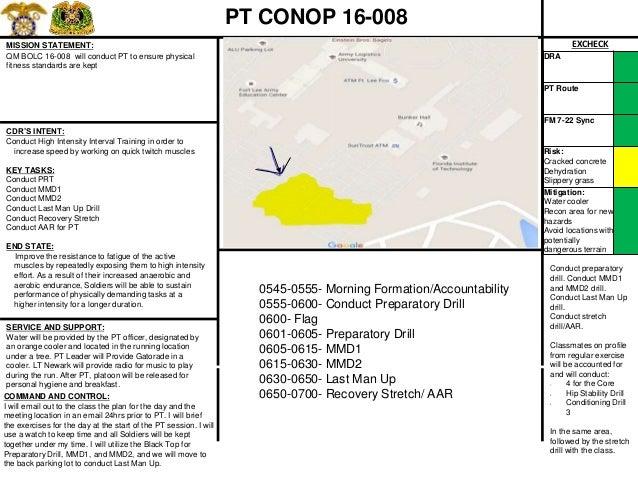 ARMY PT CONOP