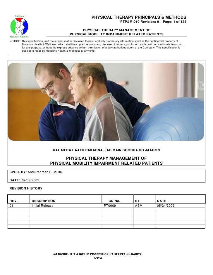 PHYSICAL THERAPY PRINCIPALS & METHODS                                                                                     ...