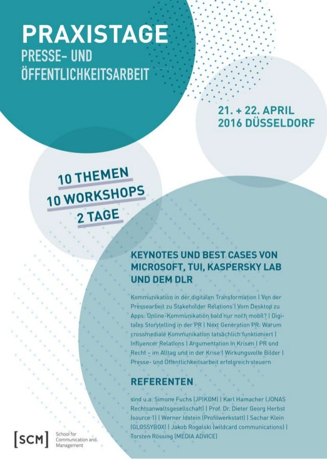 Praxistage Presse- und Öffentlichkeitsarbeit 04-16