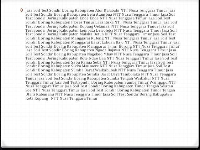 Jasa Tes Tanah Sondir Boring Kota Semarang Jawa Tengah